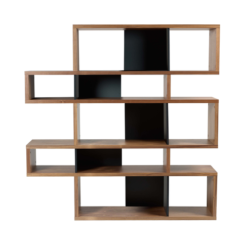 LONDON COMPOSITION Bookcase | Walnut + Black