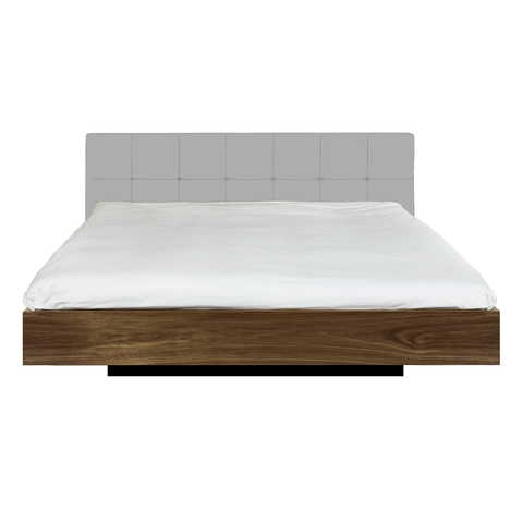 FLOAT Bed | Gray + Walnut