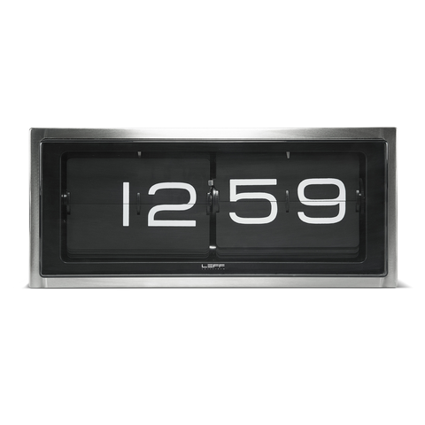 BRICK Flip Clock | Steel + Black