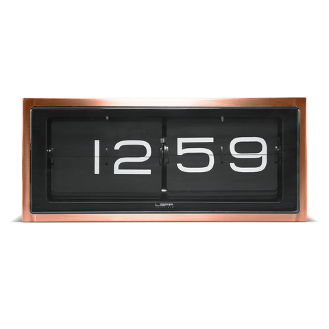 BRICK Flip Clock | Copper + Black