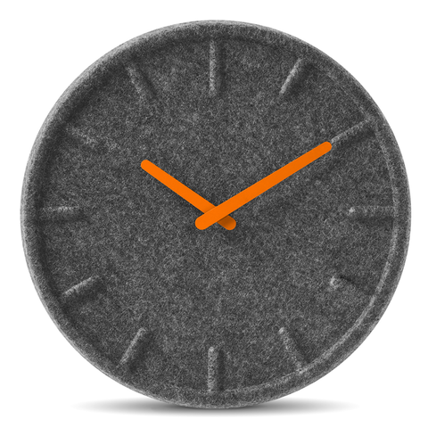 FELT Wall Clock | Orange Hands