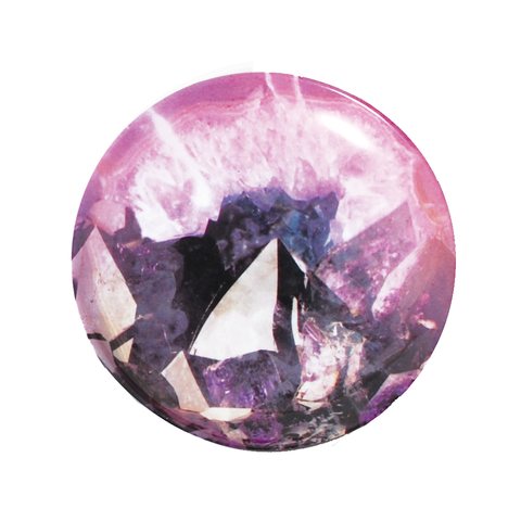 LUMINOUS GEODE Dish | Purple