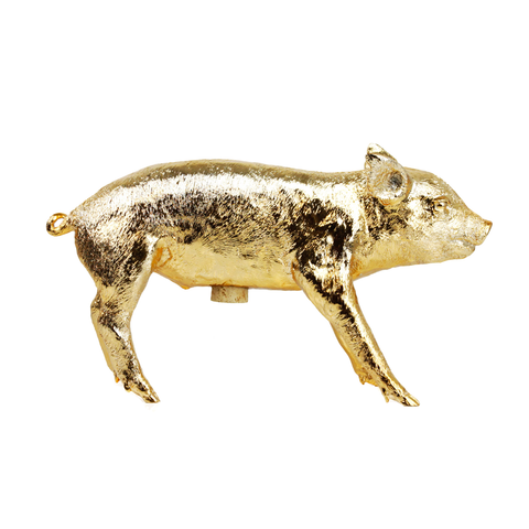 BANK IN THE FORM OF A PIG | Gold