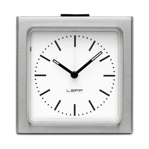 BLOCK Alarm Clock | Steel Case + White Index