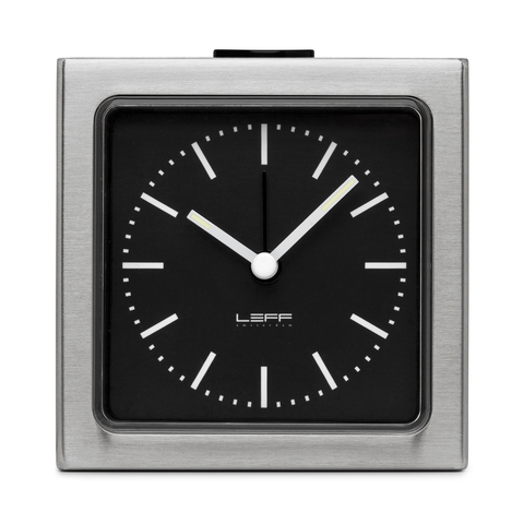 BLOCK Alarm Clock | Steel Case + Black Index