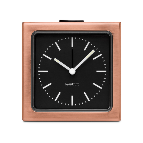 BLOCK Alarm Clock | Copper Case + Black Index