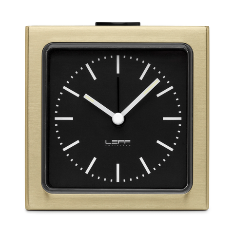 BLOCK Alarm Clock | Brass Case + Black Index