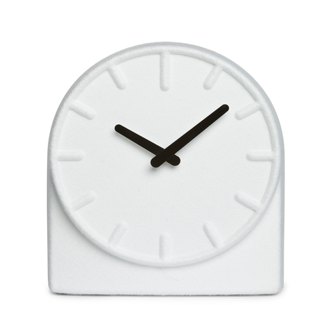 FELT TWO Table Clock | White with Black Hands