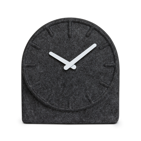 FELT TWO Table Clock | Gray with White Hands