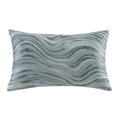 MARBLE Throw Pillow | Blue