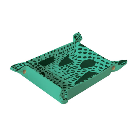 PITTER PATTER Collapsible Catchall | Green + Black