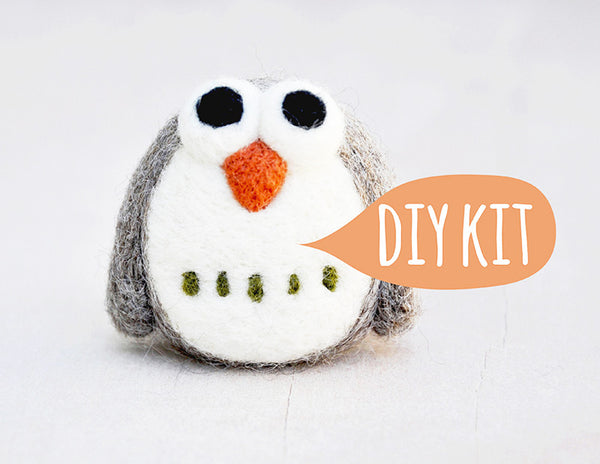 Needle Felting DIY Kit - Owl