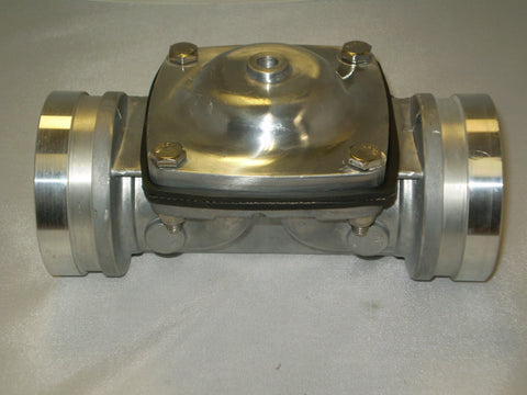 "3"" ALUMINUM INLINE VALVE AIR OPERATED- GROOVE CONNECTION PART #20020700013"