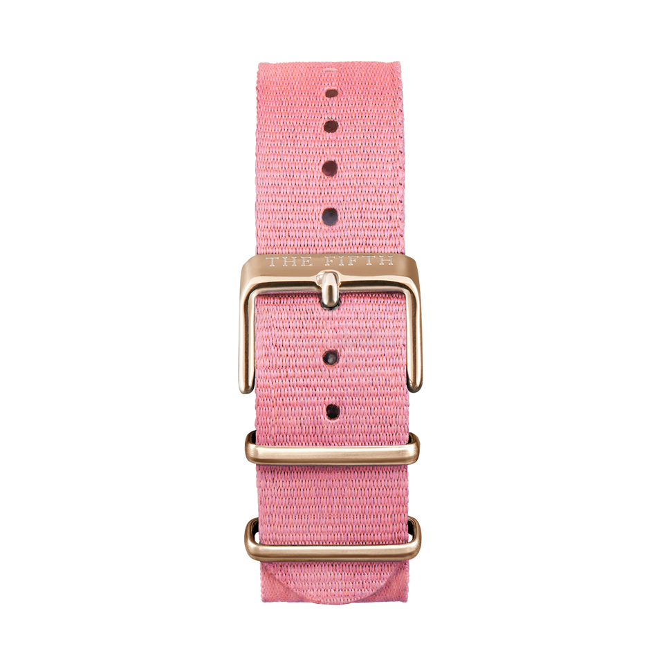 Nato Strap Pink & Rose Gold - Mens