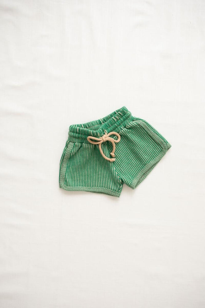 Ribbed Terry Trackies | Emerald