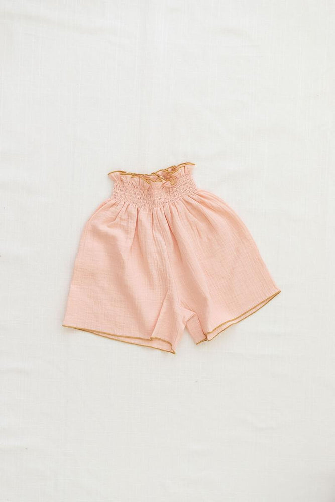 Smocked Culotte | Peach