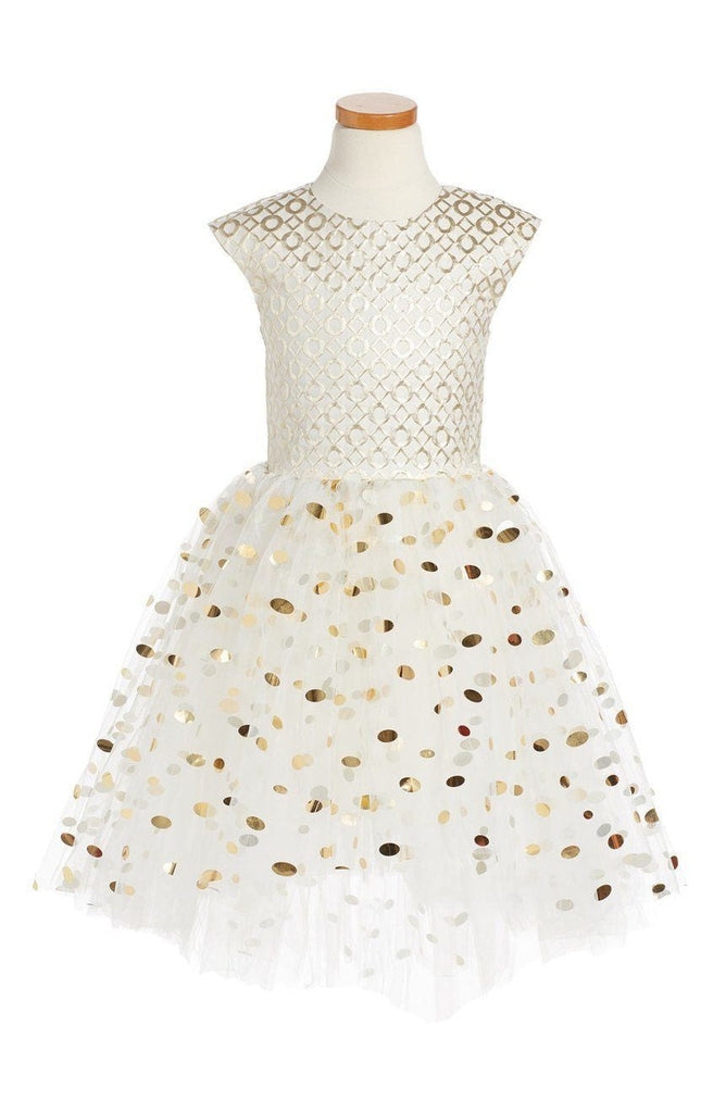Halabaloo Dot Fit & Flare Dress - TAYLOR + MAX
