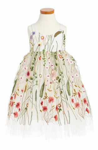 Halabaloo Embroidered Sleeveless Dress