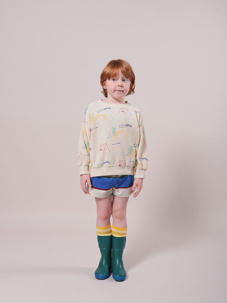 Playground All Over Terry Fleece Sweatshirt