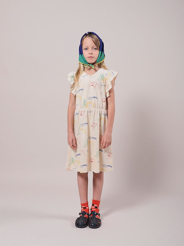 Playground All Over Terry Fleece Ruffle Dress