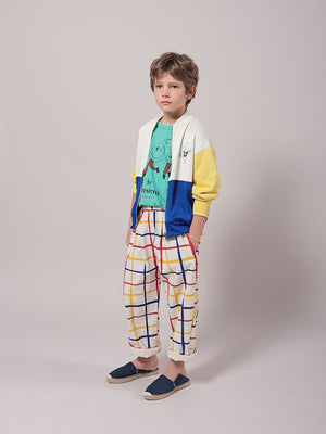 Multicolor Checkered Baggy Trousers