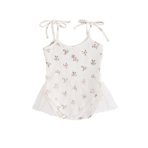 Tocoto Vintage Flower Print Body Tulle