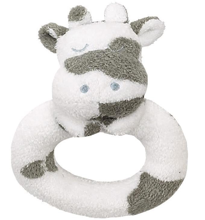 Grey and White Spotted Cow Rattle - TAYLOR + MAX
