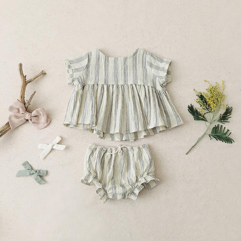 Rylee + Cru Top + Flutter Bloomer Stripe Set