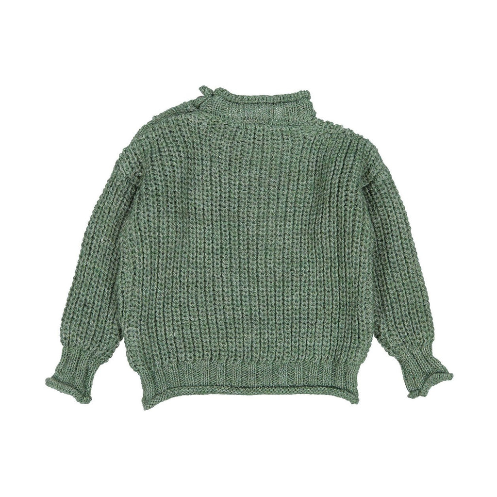 Tocoto Vintage Dark Green Chunky Knit Sweater