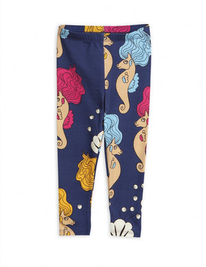 Load image into Gallery viewer, Mini Rodini Seahorse Leggings | Navy - TAYLOR + MAX