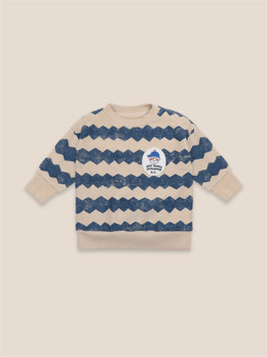 Load image into Gallery viewer, Bobo Choses Columns sweatshirt.  100% Organic Cotton  Machine wash 40 degrees
