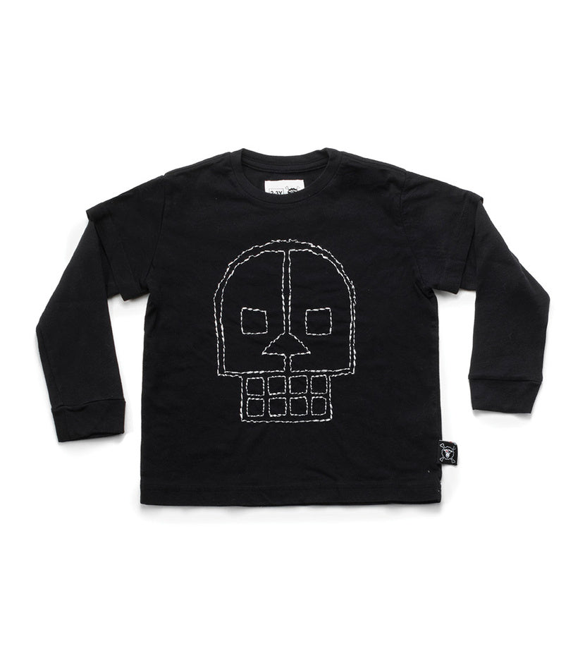 NUNUNU Embroidered Skull T-Shirt | Shirt