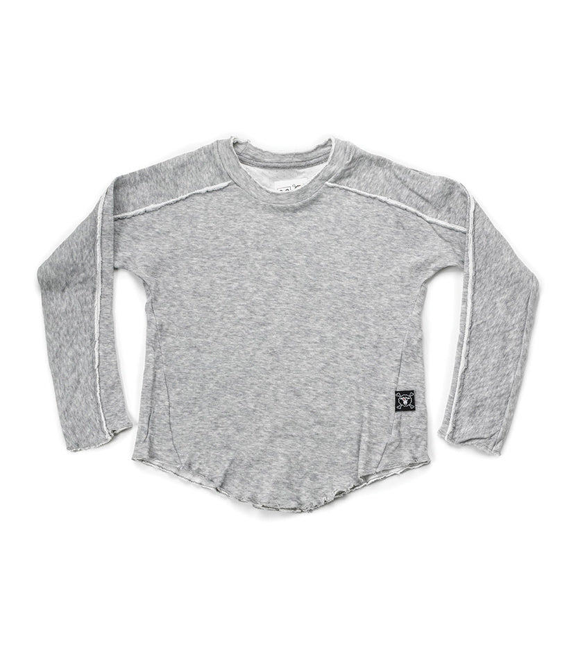 NUNUNU Hemmed Shirt | Heather Grey