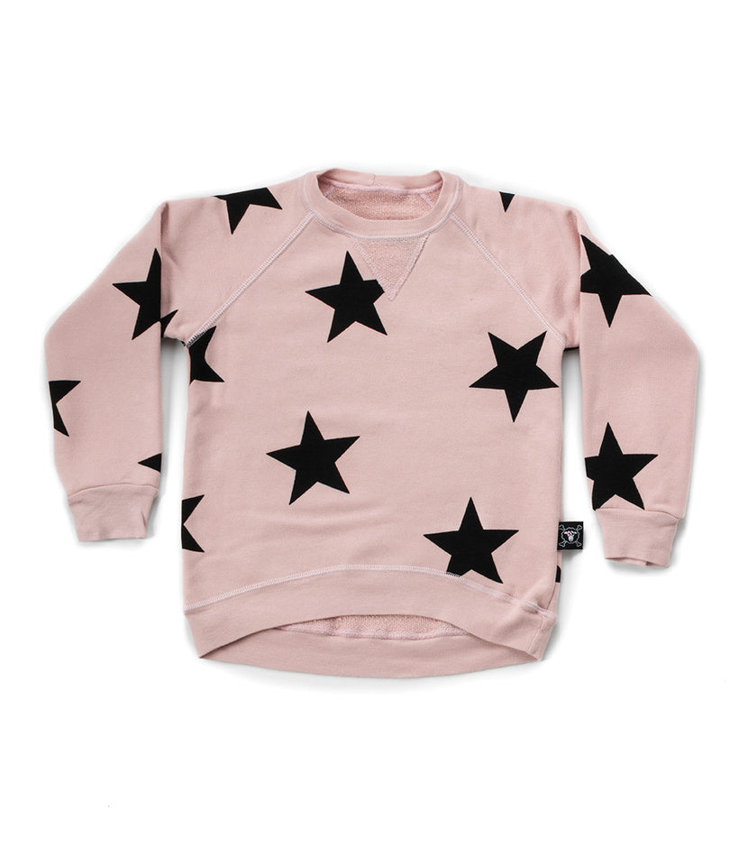 NUNUNU Star Sweatshirt | Powder Pink