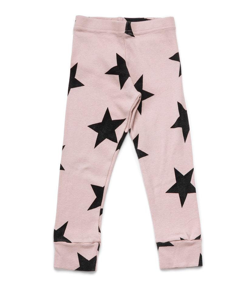 NUNUNU Star Leggings | Powder Pink