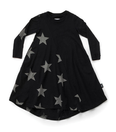 NUNUNU Star 360 Dress | Black