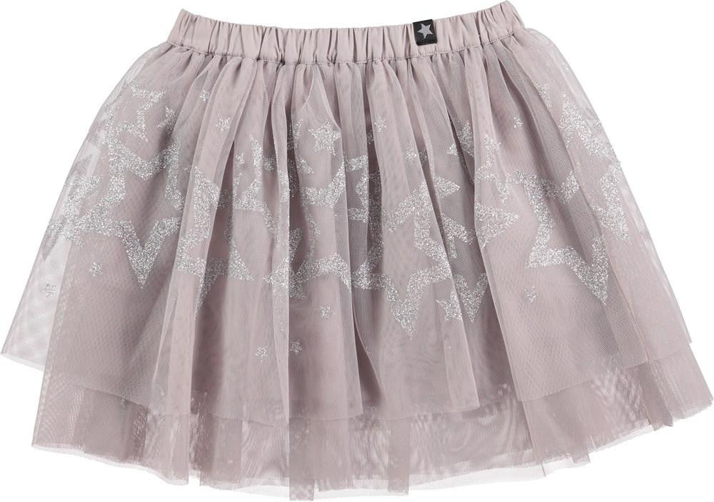silver tulle skirt with silver glitter stars