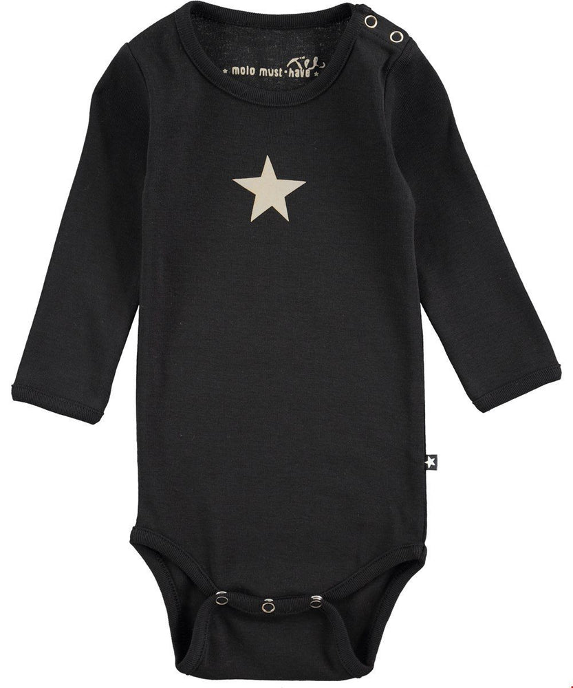 Load image into Gallery viewer, Molo Black Foss Onesie - TAYLOR + MAX