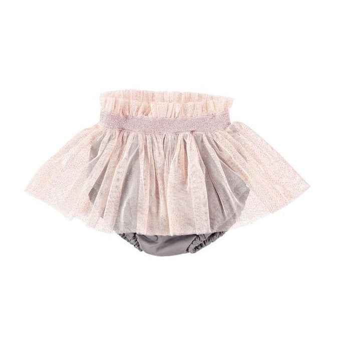 Tocoto Vintage Baby Glittery Tulle Skirt