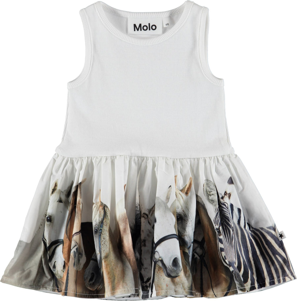 Molo Cordelia Horse Stripe Baby Dress