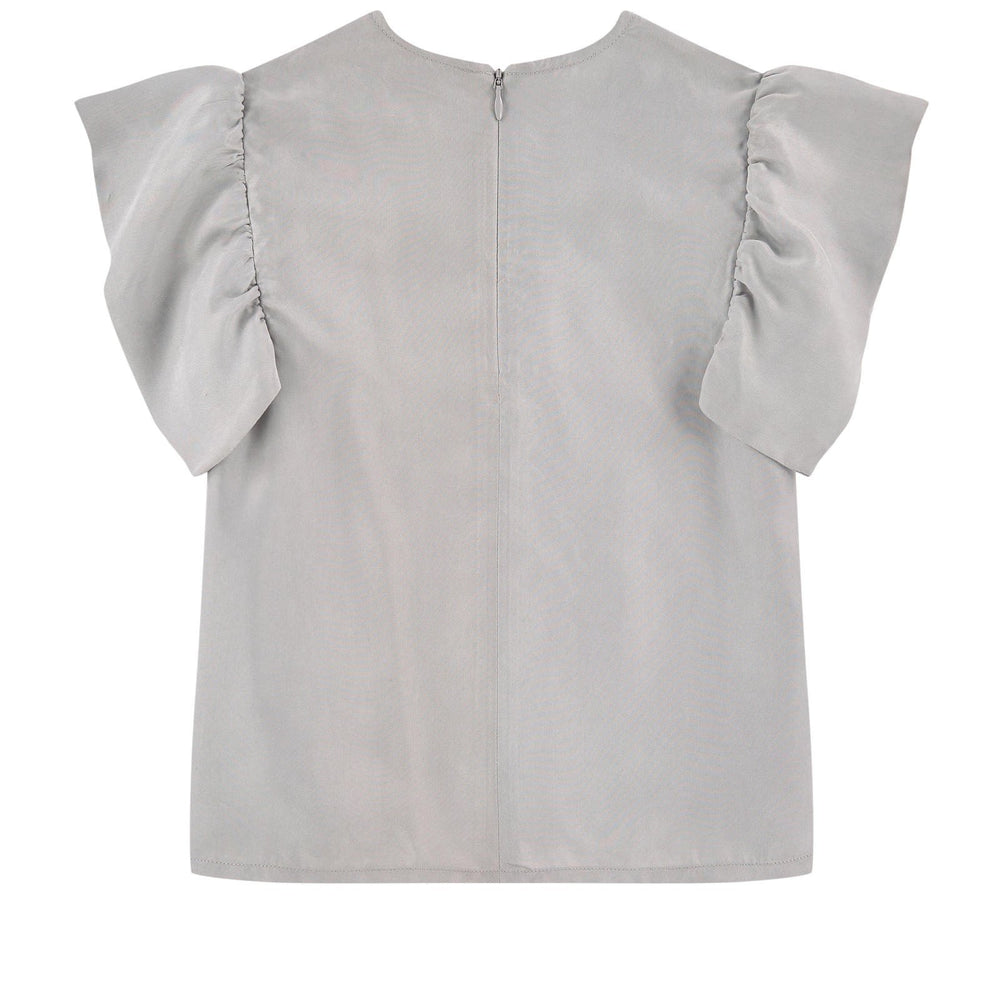 MOLO Cupro Blouse with Flounces Ramsi - TAYLOR + MAX