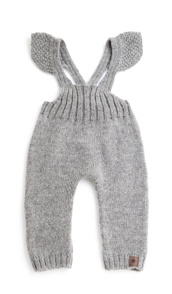 Tocoto Vintage Knitted Overalls | Grey - TAYLOR + MAX