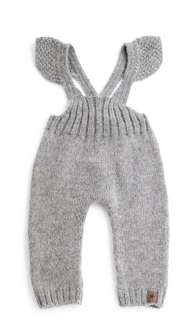 Tocoto Vintage Knitted Overalls | Grey