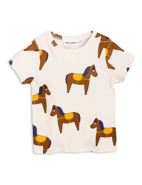 Mini Rodini Short Sleeve Yellow Horse Tee