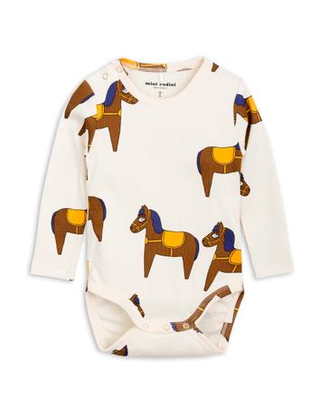 Mini Rodini Yellow Horse Long Sleeve Body