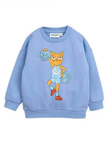 Mini Rodini Cheer Cat Terry Sweatshirt