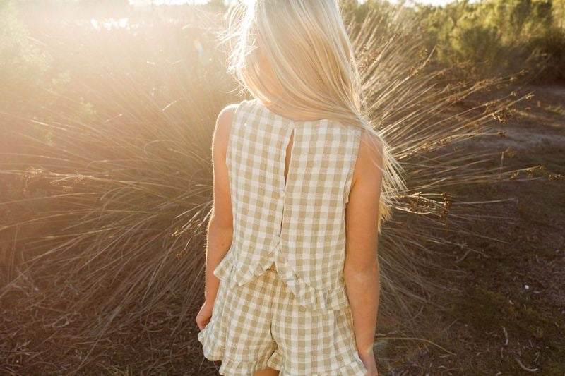 Leonie Top | Butter Gingham