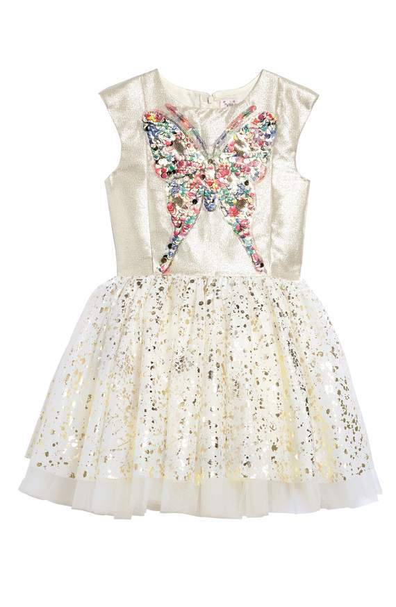 Halabaloo Sequin Butterfly Dress - TAYLOR + MAX