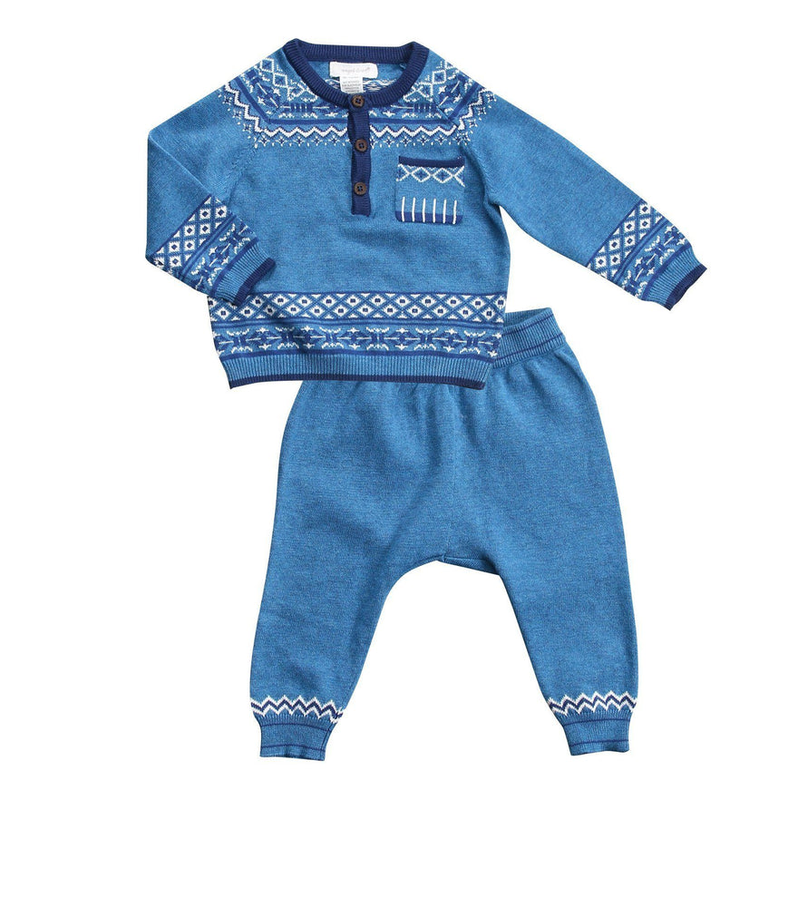Henley Knit Jumper with Pant Set - TAYLOR + MAX