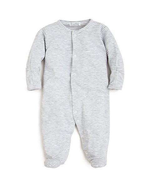 Kiss Kissy Infant Unisex Essential Striped Footie - TAYLOR + MAX